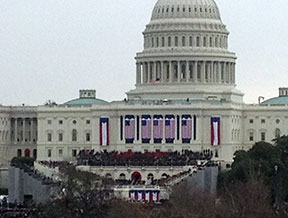 capitol at inauguration